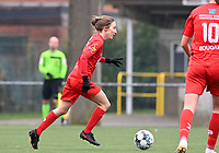Selina Gijsbrechts (11) of Woluwe pictured during a female soccer game between Club Brugge Dames YLA and White Star Woluwe on the 12 th matchday of the 2020 - 2021 season of Belgian Scooore Womens Super League , saturday 30 January 2021  in Brugge , Belgium . PHOTO SPORTPIX.BE | SPP | DAVID CATRY