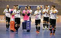 German team Team celebrates Auftaktsieg vor den Fans    celebration    <br /> / Sport / Hockey Hnhockey / World Championships Weltmeisterschaft  /  2017/2018 / 07.02.2018 / GER BRGermany vs. Kasachstan 180207045 /  *** Local Caption *** © pixathlon<br /> Contact: +49-40-22 63 02 60 , info@pixathlon.de