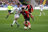 Martin Fenin (Eintracht) im Zweikampf mit Marcel Maltritz (Bochum)<br /> Eintracht Frankfurt vs. VfL Bochum, Commerzbank Arena<br /> *** Local Caption *** Foto ist honorarpflichtig! zzgl. gesetzl. MwSt. Auf Anfrage in hoeherer Qualitaet/Aufloesung. Belegexemplar an: Marc Schueler, Am Ziegelfalltor 4, 64625 Bensheim, Tel. +49 (0) 6251 86 96 134, www.gameday-mediaservices.de. Email: marc.schueler@gameday-mediaservices.de, Bankverbindung: Volksbank Bergstrasse, Kto.: 151297, BLZ: 50960101
