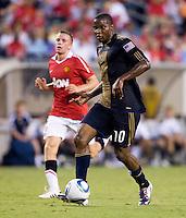 Danny Mwanga. Manchester United defeated Philadelphia Union, 1-0.