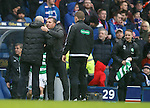 Brendan Rodgers with Mark Warbuton at full-time