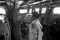 - Italian Navy, Vittorio Veneto cruiser, helmsman on bridge (May 1984)<br /> <br /> - Marina Militare Italiana, incrociatore Vittorio Veneto, timoniere in plancia (Maggio 1984)