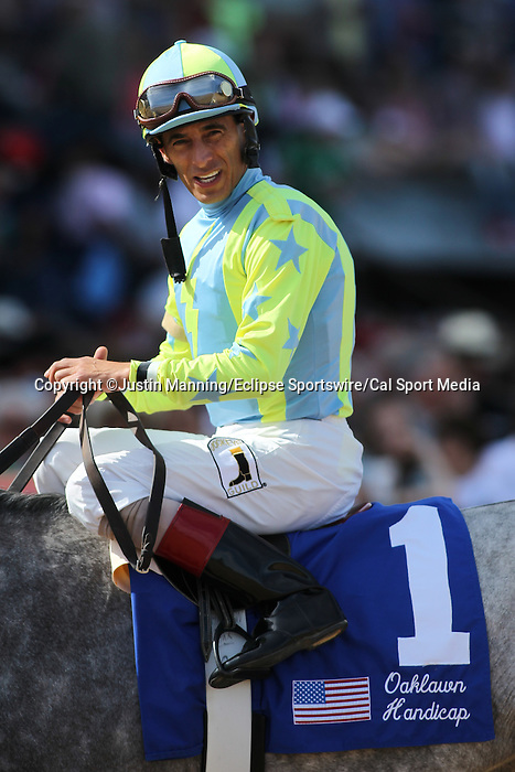 April 11, 2015: Jockey John Velazquez aboard Race Day after winning the Oaklawn Hanicap at Oaklawn Park in Hot Springs, AR. Justin Manning/ESW/CSM