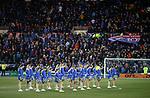 09.02.2019:Killie cheerleaders and Rangers fans