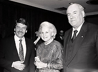 Montreal (QC) CANADA=1986 file photo -<br /> Jean Dore, Mayor of Montreal (L), Jeanne sauve (M)