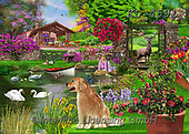 Interlitho-Franco, LANDSCAPES, LANDSCHAFTEN, PAISAJES, paintings+++++,garden,KL4591,#l#, EVERYDAY ,puzzle,puzzles