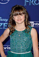 """LOS ANGELES, USA. November 08, 2019: Hadley Gannaway at the world premiere for Disney's """"Frozen 2"""" at the Dolby Theatre.<br /> Picture: Paul Smith/Featureflash"""
