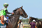September 07, 2015. Daddy's Thief, ridden by Jacqueline Davis, wins race 4, six furlongs for maidens three years old and upward. Undercard races and scenes around the track on Labor Day at  Parx Racing in Bensalem, PA.  (Joan Fairman Kanes/ESW/CSM)