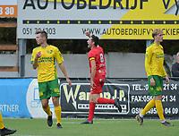 FC GULLEGEM - WITGOOR SPORT DESSEL :<br /> Efram Vansuypeene juicht bij het maken van zijn openingsdoelpunt<br /> <br /> Foto VDB / Bart Vandenbroucke