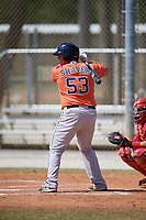 Houston Astros Colton Shaver (53) during a Minor League Spring Training game against the St. Louis Cardinals on March 27, 2018 at the Roger Dean Stadium Complex in Jupiter, Florida.  (Mike Janes/Four Seam Images)