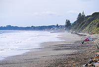 Fishing at Paekakariki beach, New Zealand on Saturday, 23 May 2020.