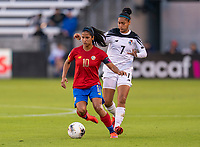 Shirley Cruz #10 of Costa Rica dribbles