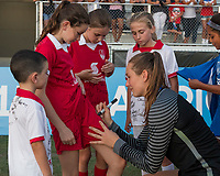 Bradenton, FL - Sunday, June 12, 2018: Angelina Anderson, Fans during a U-17 Women's Championship Finals match between USA and Mexico at IMG Academy.  USA defeated Mexico 3-2 to win the championship.