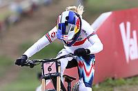 29th August 2021; Commezzadura, Trentino, Italy; 2021 Mountain Bike Cycling World Championships, Val di Sole; Downhill;  Downhill final Women, Tahnee Seagrave (GBR)
