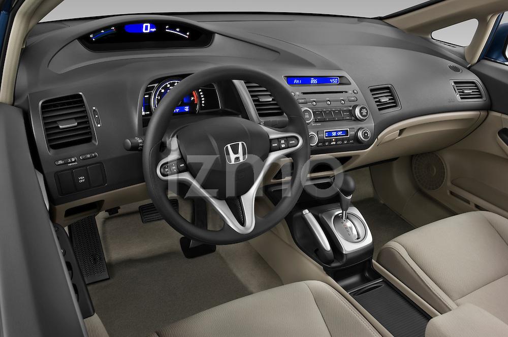 High angle dashboard view of a 2009 Honda Civic Hybrid