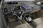 High angle dashboard view of a 2009 Honda Civic Hybrid