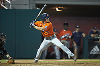Luke Jarvis (9) of the Auburn Tigers at bat against the Army Black Knights at Doak Field at Dail Park on June 2, 2018 in Raleigh, North Carolina. The Tigers defeated the Black Knights 12-1. (Brian Westerholt/Four Seam Images)
