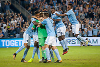 Kansas City, KS - Wednesday August 9, 2017: Sporting Kansas City, celebrate, celebration during a Lamar Hunt U.S. Open Cup Semifinal match between Sporting Kansas City and the San Jose Earthquakes at Children's Mercy Park.