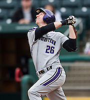 Jack Havey (26) of the Northwestern Wildcats follows through his swing during a game against the Missouri State Bears at Hammons Field on March 8, 2013 in Springfield, Missouri. (David Welker/Four Seam Images)