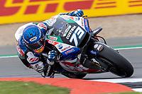 27th August 2021; Silverstone Circuit, Silverstone, Northamptonshire, England; MotoGP British Grand Prix, Practice Day;  LCR Honda Castrol rider Alex Marquez on his Honda RC213V