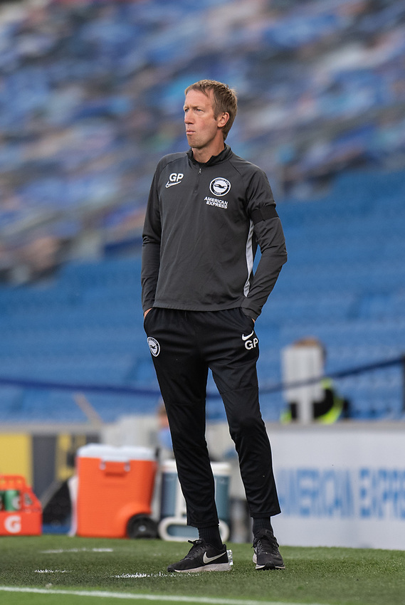 Brighton & Hove Albion Head Coach Graham Potter <br /> <br /> Photographer David Horton/CameraSport<br /> <br /> The Premier League - Brighton & Hove Albion v Manchester City - Saturday 11th July 2020 - The Amex Stadium - Brighton<br /> <br /> World Copyright © 2020 CameraSport. All rights reserved. 43 Linden Ave. Countesthorpe. Leicester. England. LE8 5PG - Tel: +44 (0) 116 277 4147 - admin@camerasport.com - www.camerasport.com