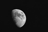 Gibbous moon, waxing, growing into July's Full Buck Moon, also known as the Full Thunder Moon, coming on July 9th.