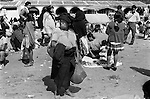 San Cristobal de las Casas, Mexican state of Chipas Mexico. Market day, group of people  shopping and wondering around. 1973 1970s