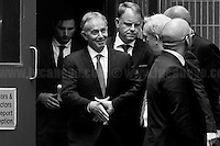 """24.06.2016 - 12:12AM - """"Leave Campaign HQ: Tony Blair & Boris Johnson"""".<br /> <br /> London, March-July 2016. Reporting the EU Referendum 2016 (Campaign, result and outcomes) observed through the eyes (and the lenses) of an Italian freelance photojournalist (UK and IFJ Press Cards holder) based in the British Capital with no """"press accreditation"""" and no timetable of the main political parties' events in support of the RemaIN Campaign or the Leave the EU Campaign.<br /> On the 23rd of June 2016 the British people voted in the EU Referendum... (Please find the caption on PDF at the beginning of the Reportage).<br /> <br /> For more photos and information about this event please click here: http://lucaneve.photoshelter.com/gallery/Leave-Campaign-HQ-Tony-Blair-Boris-Johnson/G00004rLeHW0h7xw/C0000LiS.GOfEuNk<br /> <br /> For more information about the result please click here: http://www.bbc.co.uk/news/politics/eu_referendum/results"""