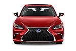 Car photography straight front view of a 2020 Lexus ES 300h 4 Door Sedan