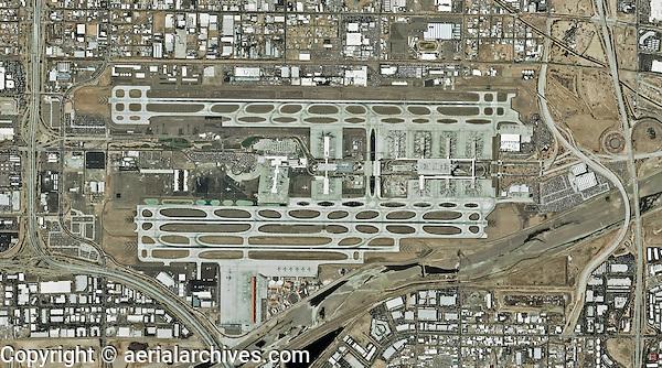 aerial map of Phoenix Sky Harbor International Airport, Phoenix, Artisona
