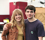 """Erika Olson and Jonny Amies during the Sneak Peak Meet the cast and creative team of the World Premiere production of """"My Very Own British Invasion"""" on January 16, 2019 at the Church of Saint Paul The Apostle in New York City."""