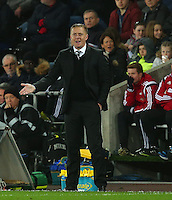 Swansea City manager Garry Monk shows a look of frustration on the touchline during the Barclays Premier League match between Swansea City and Leicester City played at The Liberty Stadium on 5th December 2015