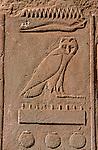 Cartouche avec le nom d'un dieu egytpien Lac Nasser. Egypte