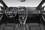 Stock photo of straight dashboard view of a 2015 Ford Focus St 5 Door Hatchback Dashboard