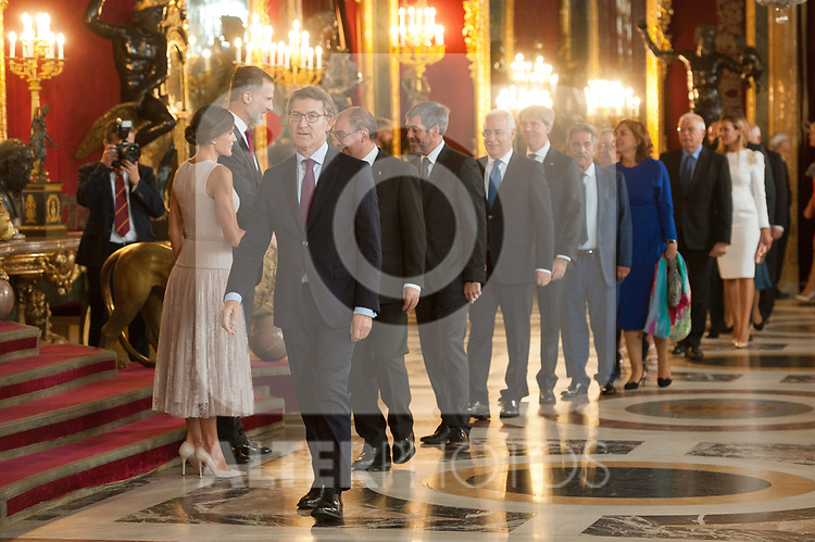 Alberto Nunez Feijoo attends to Sapnish National Day palace reception at the Royal Palace in Madrid, Spain. October 12, 2018. (ALTERPHOTOS/A. Perez Meca)