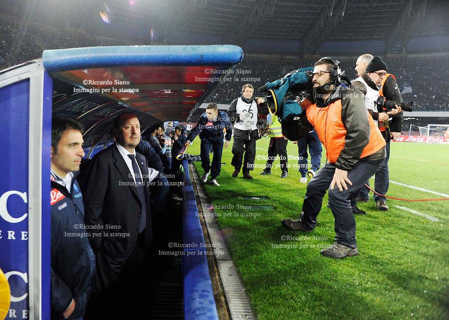 - NAPOLI 23 MAR  -  Stadio San Paolo    Napoli -  Fiorentina<br />  nella foto  Benitez