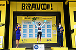Egan Bernal (COL) Team Ineos Grenadiers retains the White Jersey at the end of Stage 9 of Tour de France 2020, running 153km from Pau to Laruns, France. 6th September 2020. <br /> Picture: ASO/Alex Broadway   Cyclefile<br /> All photos usage must carry mandatory copyright credit (© Cyclefile   ASO/Alex Broadway)