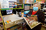 Kitty Diggin from Ballyduff been served by Katie Dowling, shop assistant in Ross's Centra Ballyduff on Thursday.