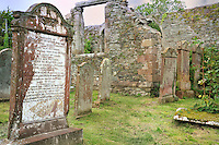 SC -Prov. GALLOWAY<br /> Wigtown - St.Machute's church, where an old celtic cross of the 6th century is well preserved<br /> <br /> Full size: 69,3 MB