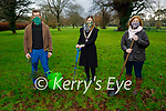 Tralee Rotary Club present trees to Michael Kelly who will plant them in Castlegregory at a later date.  L to r: Michael Kelly, Sharon Hayes (President of Tralee Rotary Club) and Grace O'Donnell.