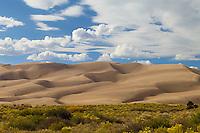 Great Sand Dunes National Park, Colorado.<br /> <br /> Canon EOS 5D Mk II, 70-200 f/2.8L lens, polarizing filter