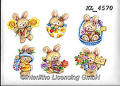 Interlitho-Theresa, EASTER, OSTERN, PASCUA, paintings+++++,6 rabbits,KL4570,#e#, EVERYDAY ,rabbit,rabbits ,sticker,stickers