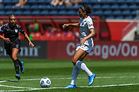 BRIDGEVIEW, IL - JUNE 5: Lynn Williams #9 of the North Carolina Courage plays the ball during a game between North Carolina Courage and Chicago Red Stars at SeatGeek Stadium on June 5, 2021 in Bridgeview, Illinois.