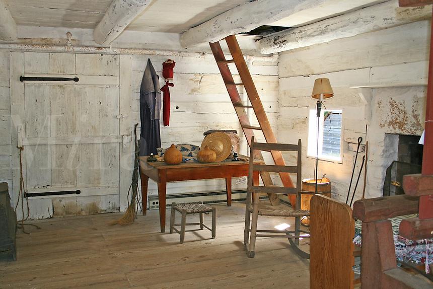 Historic Tullie Smith farm interior at Atlanta History Center in Atlanta Georgia