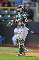 Beloit Snappers Jean Carlo Rodriguez (4) give signals during the Midwest League game against the Clinton LumberKings at Ashford University Field on June 12, 2016 in Clinton, Iowa.  The LumberKings won 1-0.  (Dennis Hubbard/Four Seam Images)