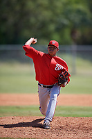 Washington Nationals pitcher Steven Fuentes (41) delivers a pitch during a minor league Spring Training game against the St. Louis Cardinals on March 27, 2017 at the Roger Dean Stadium Complex in Jupiter, Florida.  (Mike Janes/Four Seam Images)