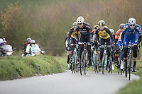 Stijn Devolder (BEL/Veranda's Willems-Crelan) in the break away group<br /> <br /> 1st Dwars door West-Vlaanderen 2017 (1.1)