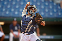 Harry Ford (20) of North Cobb High School in Kennesaw, GA during the Perfect Game National Showcase at Hoover Metropolitan Stadium on June 18, 2020 in Hoover, Alabama. (Mike Janes/Four Seam Images)
