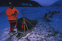 M Williams w/ Broken Sled & Team Near Rohn Iditarod 99 AK After Catching Loose Team