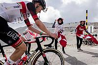 Danish Fans cheering compatriot Mikkel Bjerg (DEN/UAE-Emirates) forward<br /> <br /> Stage 11 from Sorgues to Malaucène (198.9km)<br /> 108th Tour de France 2021 (2.UWT)<br /> <br /> ©kramon
